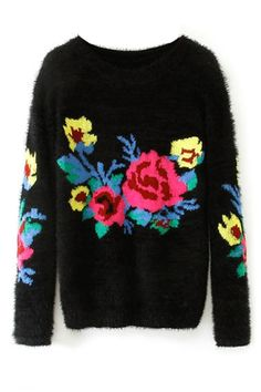 Boucle Floral Sweater