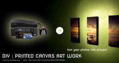 DIY : Printed Canvas Art Work
