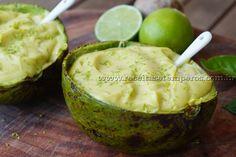 Creme de abacate com limão | Receitas e Temperos