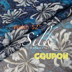 Items similar to Navy Blue silk georgette chrysanthemum fabric Width on Etsy