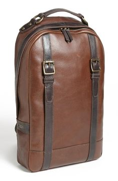 Fossil 'Estate' Leather Backpack | mens leather backpack | menswear | mens fashion | mens style | wantering http://www.wantering.com/mens-clothing-item/fossil-estate-leather-backpack/ag7QN/