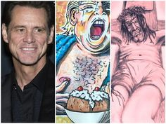 Jim Carrey And The Donald Trump Hate Art Is Jim Carrey Trolling The Democrats Blind Hate For Trump - Alrighty Then Crucifixion Of Jesus, Jesus Christ, Jesus Drawings, Jesus Stories, Jim Carrey, Troll, Donald Trump, Blind, Namaste