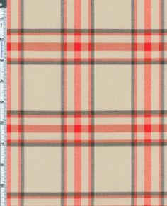 Amazon.com: Poly Wool Perfect Plaid Fabric By the Yard, Tan