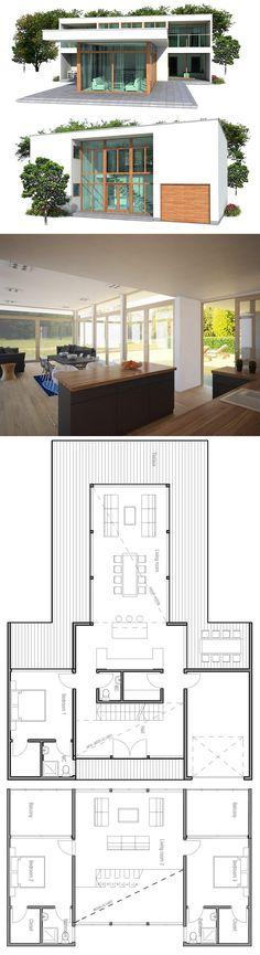 modern minimalist house plan | house plans, contemporary modern