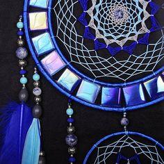 Capteur de rêves Dreamcatcher bleu mosaïque murale amérindien