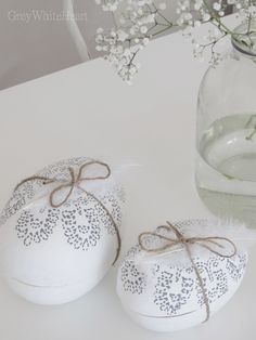 Beautiful easter eggs to fill with candy ~GreyWhiteHeart