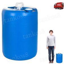 Rain-Barrel-Water-15-Gal-Blue-For-Drinking-Cooking-Personal-Sanitation-Disaster