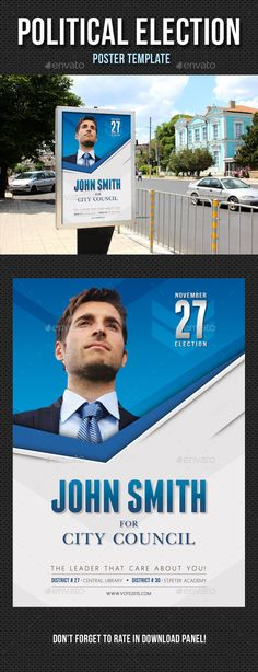 Political Election Poster Template PSD. Download here: http://graphicriver.net/item/political-election-poster-template-v01/13153361?ref=ksioks