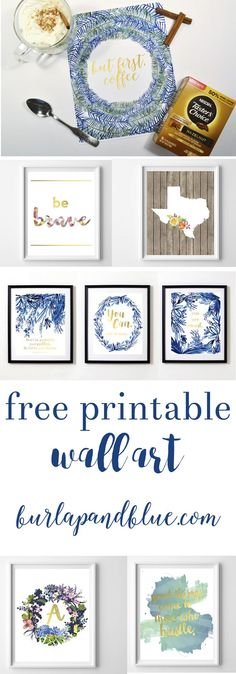 Free printable wall art! Over 50+ designs/styles. Printables perfect for nursery art, kids room decor, home decor, and gifts.