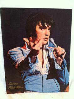 VINTAGE 1971 Elvis Presley SOUVENIR PHOTO ALBUM RCA Records Concert Novelty NICE