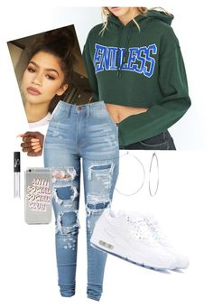 """""""Outfit"""" by angiebe1 on Polyvore featuring BDG, NARS Cosmetics, Phyllis + Rosie and NIKE"""