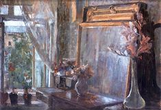 The Athenaeum - The Interior (Olga Boznańska - )