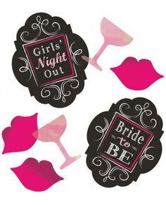 Bachelorette Party Supplies Wedding Bride To Be Black Bridal Bash Confetti #AngelsByMillie #BachelorBacheloretteParty