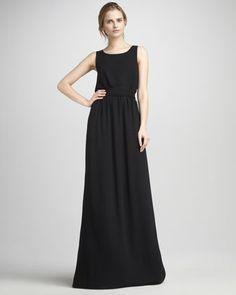 Theory Silk Maxi Dress - Neiman Marcus