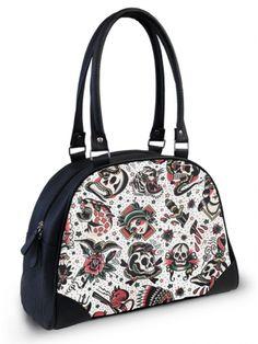"Women's ""Americana"" Bowler Bag by Liquor Brand (Black)"