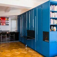Todo un apartamento oculto dentro de un gran módulo azul - Contenido seleccionado con la ayuda de http://r4s.to/r4s