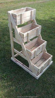 Pallet Crates Planter                                                                                                                                                     More