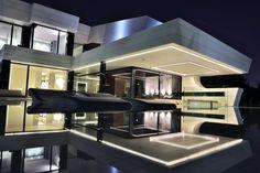 Projekt Balcony House A Cero 8 Imposante Familienhaus in Madrid mit Einem futuristischen Twist von A cero
