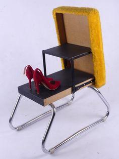 cor zyklus sessel hocker leder easy chair schwarz design peter maly 80er 80s m bel furniture. Black Bedroom Furniture Sets. Home Design Ideas