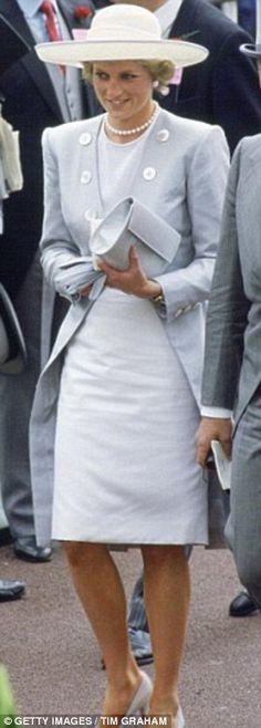 Princess Diana at Ascot in 1988...