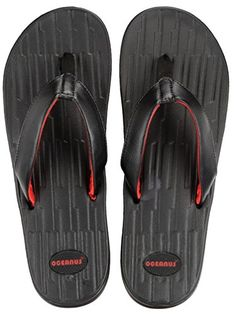 63c34d6ce1a93 Oceanus Womens Freedom IMFlex Flip Flop Sandals Black Size 9     See this  great product.
