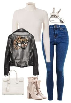 Sin título #1150 by vivig5 on Polyvore featuring polyvore fashion style A.L.C. Gucci Topshop Valentino Yves Saint Laurent Georg Jensen clothing