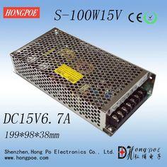 21.99$  Watch now - http://aliubo.shopchina.info/1/go.php?t=654374218 - 1PCS 100W 15V Power Supply 15V 6.7A AC-DC 110/230VAC S-100-15 DC15V  #buychinaproducts