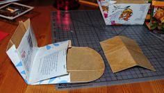 Villmarkshjerte: Hvordan lage en melkekartong-lommebok!!! Paper Shopping Bag, Crafts, Bags, Home Decor, Handbags, Manualidades, Decoration Home, Totes, Handmade Crafts