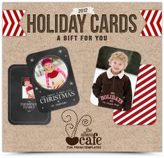 Free #Christmas Card #Photoshop Templates - Design by @TheAlbumCafe for @iHeartFaces