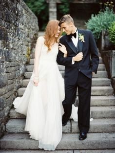 Use the walking technique, to keep the image non static) Classic elegant wedding ideas ~ Erich McVey
