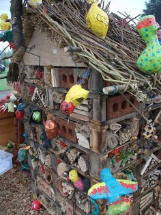 Bug hotel created by kids at the RHS Flower Show, Tatton Park.