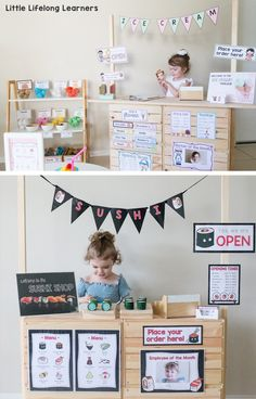 Ice cream shop dramatic play, sushi shop dramatic play | DIY Market Stand for Kids | IKEA Hack | Ikea kids play hack | Play ideas for toddlers, preschool, kindergarten | Play-based learning, imaginative play, dramatic play, role-play | Australian teachers |