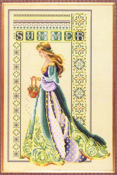 Cross Stitch Craze: Celtic Seasons - Summer a series of four.