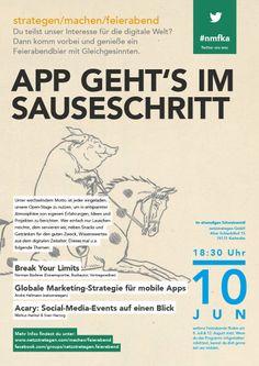 """""""App geht's im Sauseschritt"""" - Am 10. Juni 2014 bei uns netzstrategen. Veranstaltungshinweis: https://www.facebook.com/events/272768752905954/"""