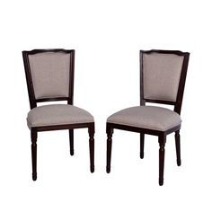 Somette French-inspired Grey Linen Dining Chair (Set of 2) (French-inspired Grey Linen Dining Chair Set) (Fabric)