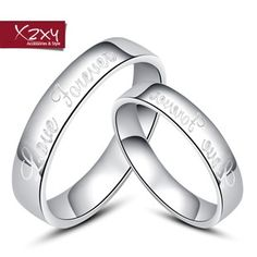 925 sterling silver couple rings on the ring finger ring for male and female lettering shipping Christmas gifts