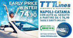 #TTTLines ci porta in Sicilia ad un prezzo speciale con auto a seguito! :D #earlypricewinter #ad