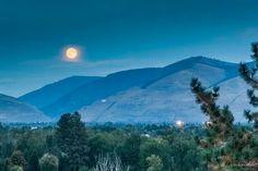 Moonrise over Missoula