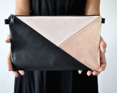 Leather Clutch Handbag Evening Clutch Leather by Vioviolla on Etsy Best Leather Wallet, Leather Pouch, Leather Crossbody Bag, Leather Handbags, Leather Bags Handmade, Handmade Bags, Clutch Bag Pattern, Leather Bag Tutorial, Diy Bags Purses