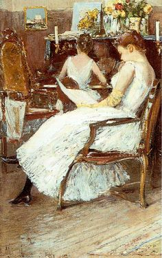 Childe Hassam - Mrs. Hassam and Her Sister