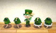St.Paddy's Clothes - Animal Crossing New Leaf QR Codes