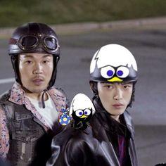 ヘルメットがシンプル過ぎるのでペイントしてみました(*>艸<)