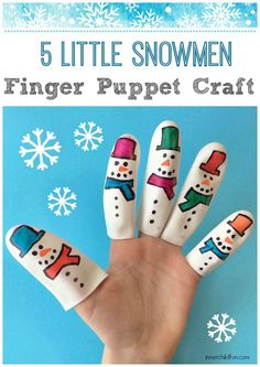 How cute are these snowmen finger puppets??