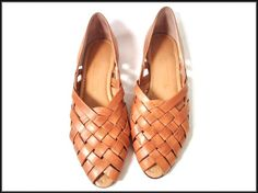 woven leather loafers.  reminds me of my grandma (that's a good thing)
