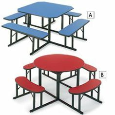 BARRICKS Cafeteria Seating - Blue by BARRICKS. $913.00. Durable, easy-to-clean BARRICKS cafeteria table and bench sets resist stains and scratches.
