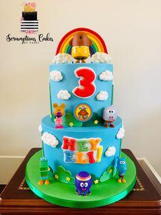 2 Birthday Cake, 4th Birthday, Birthday Ideas, Birthday Parties, Party Cakes, Cake Designs, First Birthdays, Cake Decorating, Desserts