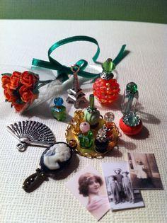 Dollhouse Miniature Perfume Vanity Display by Piera 1:12 Scale #Piera
