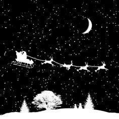 <3 Santa in silhouette! <3