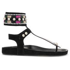 Isabel Marant Lise embellished suede and leather sandals