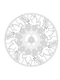 Coloring for adults - Kleuren voor volwassenen Pattern Coloring Pages, Cute Coloring Pages, Mandala Coloring Pages, Adult Coloring Pages, Coloring Books, Paper Flowers Craft, Alphabet Coloring, Preschool Art, Mandala Design